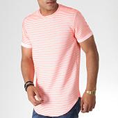 /achat-t-shirts-longs-oversize/uniplay-tee-shirt-oversize-401-blanc-rose-fluo-185075.html