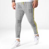/achat-pantalons-carreaux/uniplay-pantalon-a-carreaux-avec-bandes-t3390-noir-blanc-jaune-185077.html