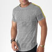 /achat-t-shirts-longs-oversize/uniplay-tee-shirt-oversize-a-carreaux-et-bandes-up-t616-blanc-noir-jaune-185101.html