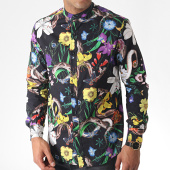 /achat-chemises-manches-longues/uniplay-chemise-manches-longues-a-col-mao-floral-uy409-noir-185111.html