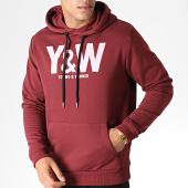 /achat-sweats-capuche/y-et-w-sweat-capuche-logo-bordeaux-rose-185010.html