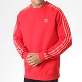 /achat-sweats-col-rond-crewneck/adidas-sweat-crewneck-avec-bandes-ej9693-rouge-corail-fluo-185321.html