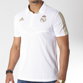 /achat-polos-manches-courtes/adidas-polo-manches-courtes-a-bandes-real-dx7858-blanc-dore-185427.html