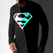 /achat-t-shirts-manches-longues/superman-tee-shirt-manches-longues-glow-in-the-dark-noir-185414.html