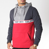 /achat-sweats-capuche/teddy-smith-sweat-capuche-zippe-neil-gris-anthracite-gris-chine-rouge-185455.html