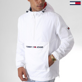 /achat-vestes/tommy-jeans-veste-outdoor-light-weight-popover-6487-blanc-185370.html