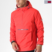 /achat-vestes/tommy-hilfiger-jeans-veste-outdoor-light-weight-popover-6487-rouge-185375.html