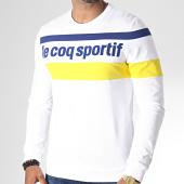 /achat-sweats-col-rond-crewneck/le-coq-sportif-sweat-crewneck-saison-n1-1920479-blanc-bleu-jaune-185667.html