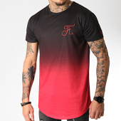 /achat-t-shirts-longs-oversize/final-club-tee-shirt-oversize-degrade-avec-broderie-274-rouge-et-noir-185793.html