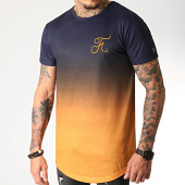 /achat-t-shirts-longs-oversize/final-club-tee-shirt-oversize-degrade-avec-broderie-275-orange-et-bleu-marine-185794.html