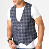 /achat-cardigans-gilets/mackten-gilet-a-carreaux-28041-bleu-marine-185810.html
