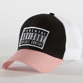 /achat-trucker/parental-advisory-casquette-trucker-patch-blanc-rose-185782.html