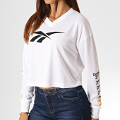 /achat-t-shirts-manches-longues/reebok-tee-shirt-femme-crop-col-v-manches-longues-classic-vector-eb4257-blanc-185940.html