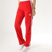 /achat-pantalons-joggings/adidas-pantalon-jogging-femme-avec-bandes-firebird-ed7510-rouge-186089.html