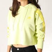 /achat-sweats-capuche/adidas--sweat-capuche-femme-avec-bandes-cropped-fk0478-jaune-186094.html