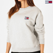 /achat-sweats-col-rond-crewneck/tommy-jeans-sweat-crewneck-femme-badge-6814-gris-chine-186120.html