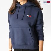 /achat-sweats-capuche/tommy-hilfiger-jeans-sweat-capuche-femme-badge-6815-bleu-marine-186121.html