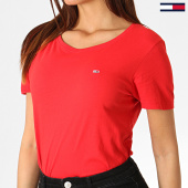 /achat-t-shirts/tommy-hilfiger-jeans-tee-shirt-femme-soft-jersey-6901-rouge-186130.html
