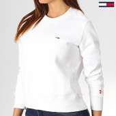/achat-sweats-col-rond-crewneck/tommy-hilfiger-jeans-sweat-crewneck-femme-classics-6926-blanc-186134.html