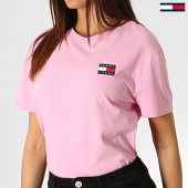 /achat-t-shirts/tommy-hilfiger-jeans-tee-shirt-femme-badge-6813-rose-186136.html