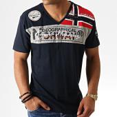 /achat-t-shirts/geographical-norway-tee-shirt-col-v-jidney-bleu-marine-186244.html