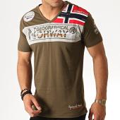 /achat-t-shirts/geographical-norway-tee-shirt-col-v-jidney-vert-kaki-186246.html