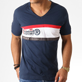 /achat-t-shirts/geographical-norway-tee-shirt-col-v-jeddy-bleu-marine-186249.html