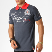 /achat-polos-manches-courtes/geographical-norway-polo-manches-courtes-kallian-gris-anthracite-rouge-blanc-186260.html