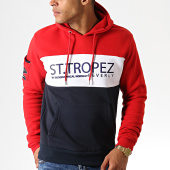 /achat-sweats-capuche/geographical-norway-sweat-capuche-firrens-rouge-bleu-marine-blanc-186275.html