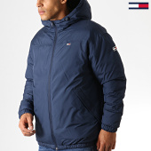 /achat-parkas/tommy-hilfiger-jeans-anorak-essential-6486-bleu-marine-vert-kaki-186268.html