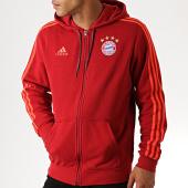 /achat-sweats-zippes-capuche/adidas-sweat-zippe-capuche-a-bandes-fc-bayern-dx9227-rouge-186300.html