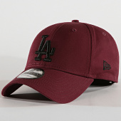 0b832cada0303 New Era - Casquette Baseball 9Forty League Essential 94 Los Angeles Dodgers  12062854 Bordeaux Noir