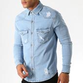 /achat-chemises-manches-longues/zayne-paris-chemise-jean-manches-longues-2967-bleu-clair-186330.html