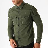 /achat-chemises-manches-longues/zayne-paris-chemise-jean-manches-longues-2976-vert-kaki-186334.html