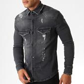 /achat-chemises-manches-longues/zayne-paris-chemise-jean-manches-longues-2962-gris-anthracite-186335.html