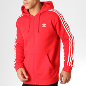 /achat-sweats-zippes-capuche/adidas-sweat-zippe-capuche-a-bandes-3-stripes-fz-ed5970-rouge-186407.html