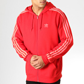 /achat-sweats-zippes-capuche/adidas-sweat-zippe-capuche-a-bandes-3-stripes-fz-ej9689-rouge-186408.html