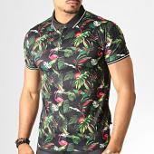 /achat-polos-manches-courtes/frilivin-polo-manches-courtes-floral-mp924-noir-vert-fushia-186422.html