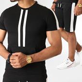 /achat-ensembles-survetement/john-h-ensemble-tee-shirt-et-short-a-bandes-ens-619-noir-blanc-186478.html