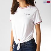 /achat-t-shirts/tommy-hilfiger-jeans-tee-shirt-femme-front-tie-contrast-rib-6756-blanc-186523.html