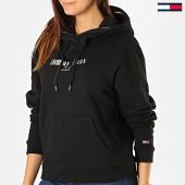 /achat-sweats-capuche/tommy-hilfiger-jeans-sweat-capuche-femme-metallic-logo-6776-noir-argente-186524.html