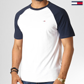 /achat-t-shirts/tommy-hilfiger-jeans-tee-shirt-contrast-sleeve-6545-blanc-bleu-marine-186530.html