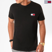 /achat-t-shirts/tommy-hilfiger-jeans-tee-shirt-badge-6595-noir-186534.html