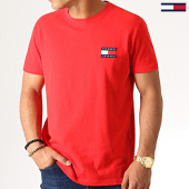 /achat-t-shirts/tommy-hilfiger-jeans-tee-shirt-badge-6595-rouge-186536.html