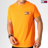 /achat-t-shirts/tommy-hilfiger-jeans-tee-shirt-badge-6595-orange-186537.html
