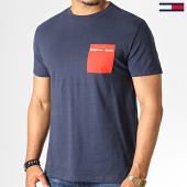 /achat-t-shirts/tommy-hilfiger-jeans-tee-shirt-contrast-pocket-6651-bleu-marine-rouge-186538.html