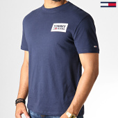 /achat-t-shirts/tommy-hilfiger-jeans-tee-shirt-back-multilogos-6671-bleu-marine-186539.html