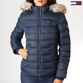 /achat-doudounes/tommy-hilfiger-jeans-doudoune-femme-fourrure-essential-hooded-down-6774-bleu-marine-186543.html