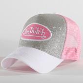 /achat-trucker/von-dutch-casquette-trucker-flak-rose-argente-186587.html