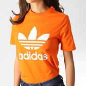 /achat-t-shirts/adidas-tee-shirt-femme-trefoil-ed7494-orange-blanc-186686.html